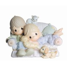 """I only like SPECIFIC Precious Moments and this is one of my favorite ones. Precious Moments """"Together is The Nicest Place To Be"""" Figurine Bunny Plush, Bunny Toys, Bunnies, Biscuit, Precious Moments Figurines, Birthday Gift For Wife, Collectible Figurines, Gifts For Wife, Easter Bunny"""