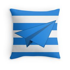 """Paper Airplane 41"" Throw Pillows by YoPedro 