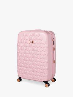 Ted Baker Beau 79cm 4-Wheel Large Suitcase, Black at John Lewis & Partners