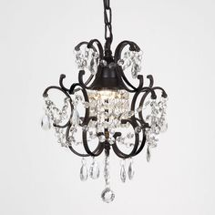 Crystal chandelier 3 tiers chandeliers crystals and lights versailles 1 light black crystal mini chandelier kitcen dining decor home aloadofball Image collections