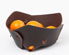 $190 - Lotus bowl, leather bowl, leather organizer, valet tray, leather goods, soft fruit bowl, leather catchall, leather decorative, free shipping
