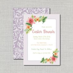 Pin by pat tarleton on cards 2017 christmas pinterest easter brunch invitation floral easterbrunch invite customized printed and digital options watercolor easter florals by wamp designs via etsy m4hsunfo