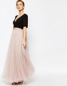 Image 1 of Little Mistress Maxi Tulle Skirt
