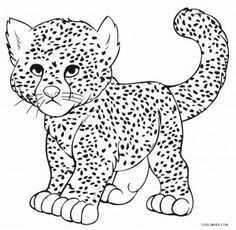 Cheetah Coloring Pages Printable. Here is a unique selection of free printable Cheetah coloring pages presented. Paint the fastest land animal in the colors yellow, black and brown or . Family Coloring Pages, Easy Coloring Pages, Coloring Sheets For Kids, Coloring Pages For Girls, Animal Coloring Pages, Coloring Pages To Print, Coloring Books, Kids Coloring, Colouring