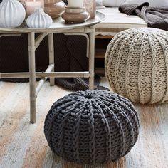 Broste Copenhagen Knitted Pouf