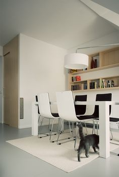 Modern Studio by Tomasz Jasinski  love hte combination of white and wood, the chair also looks good
