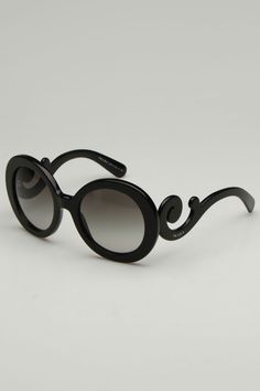 Womens Ravenna Sunglasses In Black Gray Gradient // these are just awesome. wear when you are feeling baroque. cheap rayban glasses,rayban discount