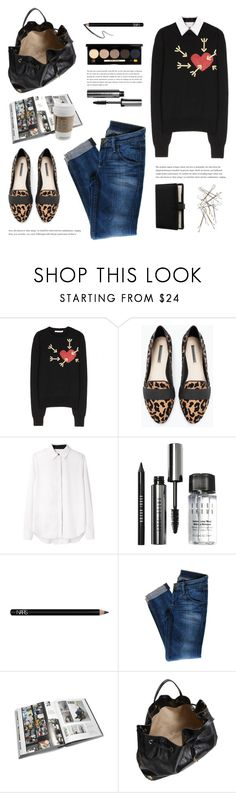 """""""My heart swings back and forth between the need for routine and the urge to run."""" by yexyka ❤ liked on Polyvore featuring Carven, Zara, Alexander Wang, Bobbi Brown Cosmetics, NARS Cosmetics, Hudson Jeans, GESTALTEN, Chloé and mytheresa"""