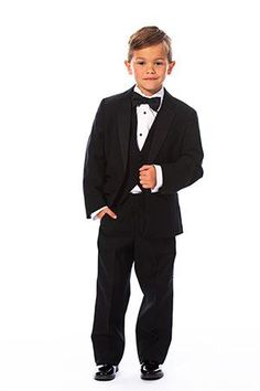 The Monte Carlo. The perfect classic black tuxedo for the ring bearer . menguin.com