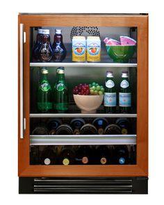 """True 24"""" Beverage Center- Overlay Glass Door"""