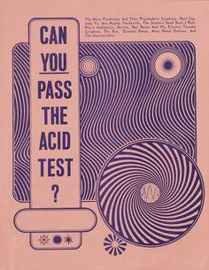 """Hippie Modernism — Magazine — Walker Art Center  Wes Wilson, """"Can You Pass the Acid Test?"""""""