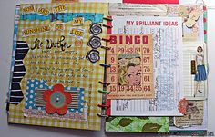 different sized pages/cards--Art Journaling 101: Visual Journaling Focus | Studio Tangie