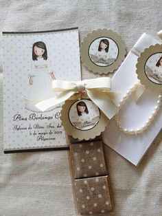 """""""Recordatorios de primera comunion"""" """" dibujos personalizados"""""""" """" tarjetas"""" First Communion Party, Communion Favors, First Holy Communion, Diy And Crafts, Crafts For Kids, Mr Wonderful, Ideas Para Fiestas, Party In A Box, Event Organization"""