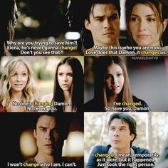 [Delena s1 - s7] Damon and Elena have changed for each other ❤…