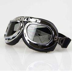 Scooter Goggle Glasses Aviator Pilot Ski Motorcycle Bike ATV Goggle  Lens