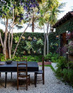 lush courtyard wall