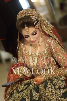 Pakistani Bridal Jewelry, Bridal Mehndi Dresses, Indian Bridal Outfits, Pakistani Wedding Outfits, Pakistani Bride Hairstyle, Designer Anarkali Dresses, Designer Bridal Lehenga, Pakistani Formal Dresses, Nikkah Dress