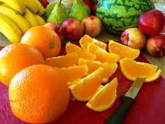 Naranja cortada para Postres
