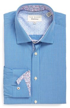 Ted Baker London Trim Fit Gingham Dress Shirt