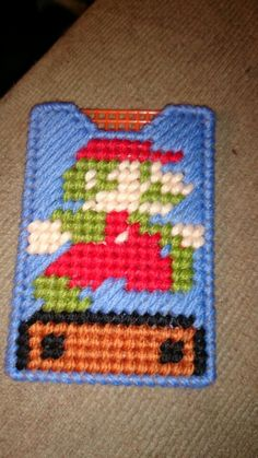 Mario gift card holder plastic canvas