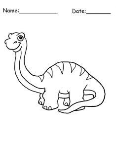 Brontosaurus Dinosaur Coloring Sheet