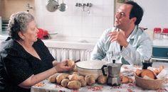 La Sora Lella e Carlo Verdone