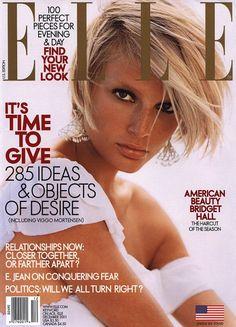 Elle US December 2001 - Bridget Hall
