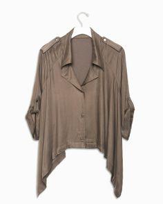 Lovely gray billowy blouse