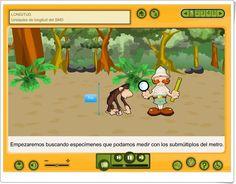 """""""Unidades de Longitud del Sistema Métrico Decimal"""" es una aplicación, de la Junta de Castilla La Mancha, en la que se exponen los contenidos relativos al tema y se plantean actividades interactivas sobre los aprendizajes adquiridos. Decimal, Math, Metric System, Maths Area, Interactive Activities, Math Resources, Mathematics"""