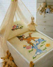 Victoria - Handmade Creations : Κεντήματα για παιδικά σεντονάκια