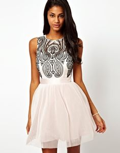 Enlarge Lipsy VIP Prom Dress with Embroidered Bodice