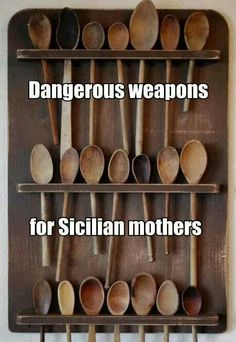 I Survived The Wooden Spoon Italian Humor, Italian Quotes, Italian Posters, Dad Quotes, Italian Language, Italian Girls, Italian Women, I Survived, Wooden Spoons