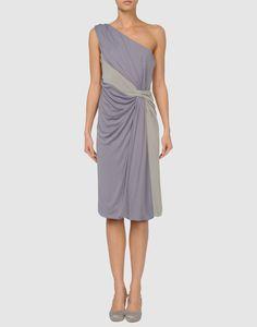 Alberta Ferretti pretty lavender dress with gray sash.
