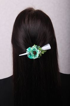 Flower Hair Pieces, Flower Hair Clips, Flowers In Hair, Wedding Hair Clips, Wedding Hair Pieces, Sister Gifts, Mother Gifts, Mint Hair, Claw Clip