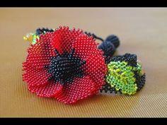 """Браслет из бисер """"Цветочное поле"""" Мастер класс / Bead Bracelet. Beading - YouTube"""