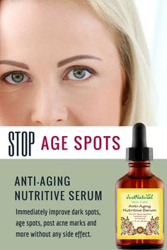 Anti-Aging Nutritive Serum / This serum helps brighten skin tone and erase the appearance of age and sun spots, smooth fine lines and evens texture for visibly vibrant skin. Chia Seed contains 7 times more Vitamin C than Oranges, combined with other nutritive rich sources of Vitamin C from Kukui Nut, Apricot Kernel, Pomegranate and Rosehip, these oils make this serum the ultimate source for Vitamin C to replenish and rejuvenate your skin.