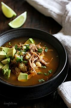 This stew made with pork, hominy and spices is so comforting, especially on a cold winter night. And leftovers taste even better the next day. Topped with avocado and a squeeze of lime, it's the perfect balance of flavors and textures.     This recipe is ever so slightly adapted from Martha Stewart's new cookbook, One Pot. When I say ever so slightly, all I did what reduce the amount of oil used. We all loved how it turned out, excellent dish for a chilly night. Her book has everything from…
