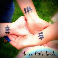 What does three little birds tattoo mean? We have three little birds tattoo ideas, designs, symbolism and we explain the meaning behind the tattoo. Bff Tattoos, Sibling Tattoos, Future Tattoos, Tattoos For Guys, Cool Tattoos, Beautiful Tattoos, Beautiful Beautiful, Group Tattoos, Family Tattoos