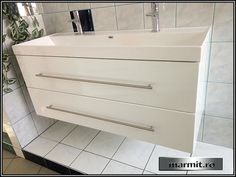 Mobilier baie suspendat Clara 120 cm cu lavoar dublu Dresser, Vanity, Bathroom, Furniture, Home Decor, Dressing Tables, Washroom, Powder Room, Powder Room