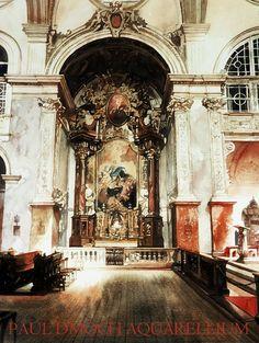 Paul Dmoch  Autel-secondaire, Franziskanerkirche, Vienne - Aquarelle
