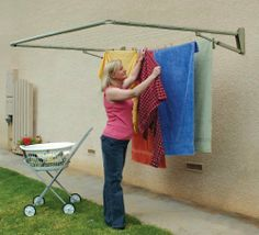 Hills Traditional Single Folding Frame by Hills. $120.95. Ground mount option available for outdoor use. Wall- or ground-mounted folding clothesline. Galvanized metal tube construction. Wall mount designed for indoor or outdoor use. 68 feet of drying space. Designed for either indoor or outdoor use, the Hills FD45350 Traditional Single Folding Frame Clothesline helps you save both money and energy. The Hills FD45350 Traditional Single Folding Frame Clothesline features an adjus...