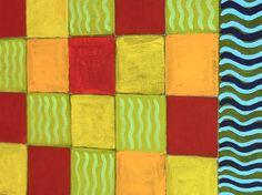 Hand painted New England foliage canvas floor cloth di SWBSTUDIO, $20.00
