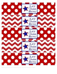 Patriotic Water Bottle Labels (cover star and logo with Canadian label.) use to bundle Twizzlers.