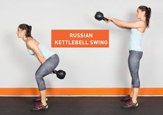 Drop the dumbbells. Here are 22 kettlebell exercises that'll give your whole body a killer workout. #fitness #kettlebell #exercises https://greatist.com/fitness/22-kick-ass-kettlebell-exercises