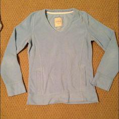 Sky blue sweatshirt Pullover sweatshirt, great condition! Worn a few times, has pockets Merona Tops Sweatshirts & Hoodies