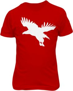 White Tailed Eagle Flight - Cardinal Red - Graphic Life Design