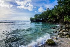 Tanguisson Beach off the coast of the island of Guam.