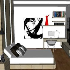 Tv unit in common bedroom modern style bedroom by u and i designs modern Tv Unit Furniture Design, Tv Unit Design, Tv In Bedroom, Bedroom Modern, Floating Tv Unit, My Design, Modern Design, Corner Tv Unit, Tv Unit Decor
