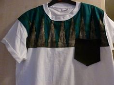 African print/leather Tshirt by ModernHeritageLLP on Etsy, £16.00