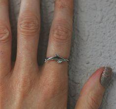Silver Dolphin Ring - Stack Ring - Handmade Ocean Jewellery - Sophie Jade Jewellery